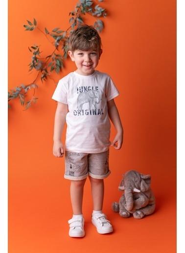 Mininio Beyaz Jungle Original T-Shirt (9ay-4yaş) Beyaz Jungle Original T-Shirt (9ay-4yaş) Beyaz